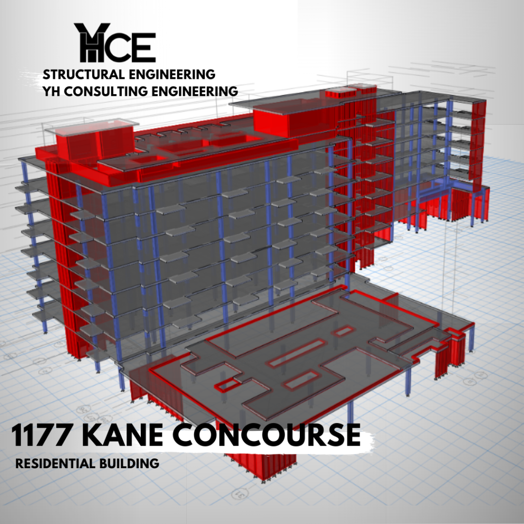 1177 Kane Concourse Residential building, structural model