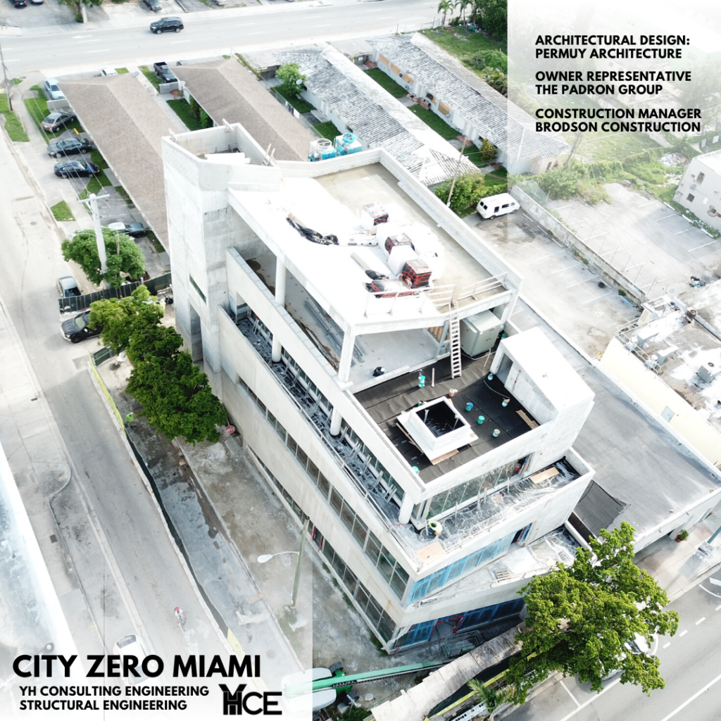 UNDER CONSTRUCTION BUILDING CITY ZERO DESIGNED BY PERMUY ARCHITECTURE AND STRUCTURAL DESIGN BY YHCE
